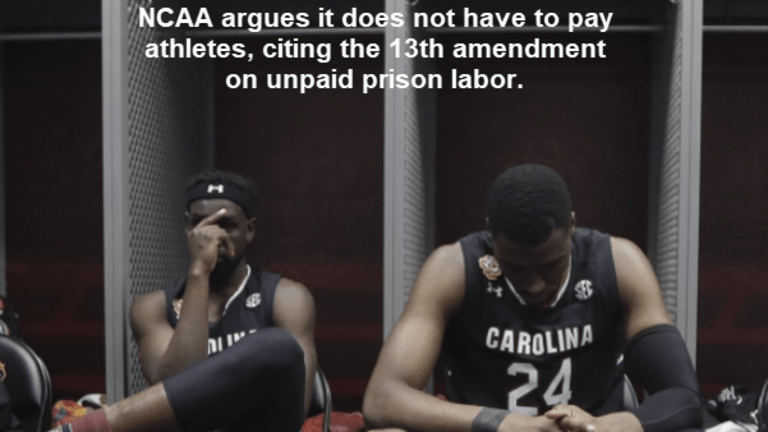 NCAA Cites 13th Amendment on Unpaid Prison Labor to Not Pay Athletes