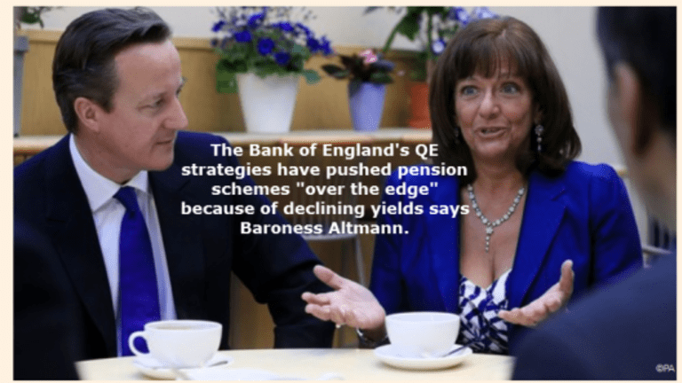 """Baroness Altmann Blasts Bank of England for Pushing Pension Schemes """"Over the Edge""""."""