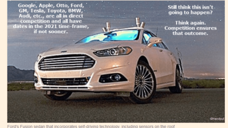 Ford Targets 2021 for Mass-Market Self-Driving Car: 2021 a Near Certainty