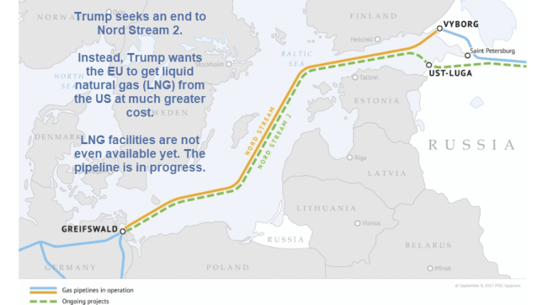 Trump Firmly In the Twilight Zone: Threatens Nord Stream 2 With Sanctions