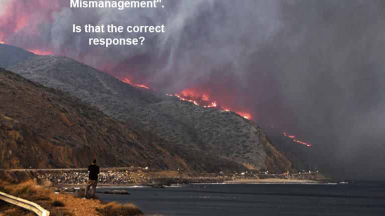 """As Wildfire Rage in CA, Trump Tweets """"Mismanagement"""" Threatens to Cut Funds"""