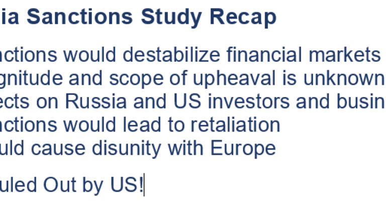 """Sanctioning Russian Debt Risks """"Global Upheaval"""": On the Table Anyway"""