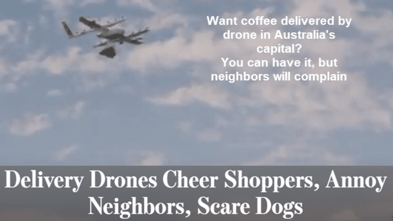 Want Hot Coffee by Drone in Minutes? You Can in Australia's Capital