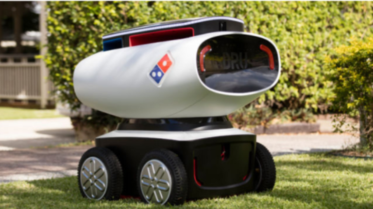 """Domino's Unveils """"DRU"""" Unmanned Pizza Delivery Robot, On Trial in 7 Countries"""