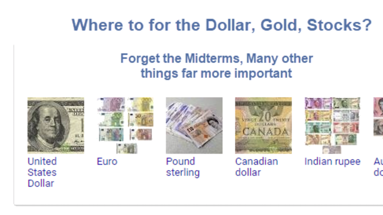 Dollar, Gold, Odds of Recession? Numerous Things More Important Than Midterms