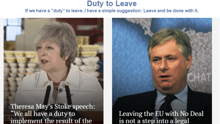 """Duty to Leave: No """"Meaningful"""" Brexit Vote Tuesday, Just a Political Circus"""