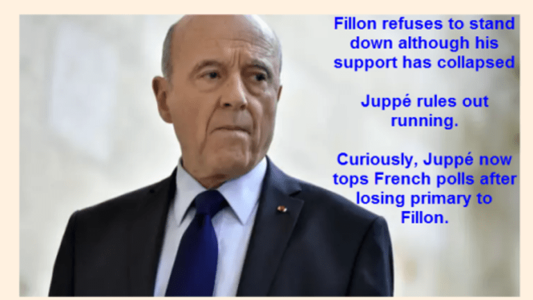 Despite Topping Polls, Juppé Rules Out Replacing Fillon