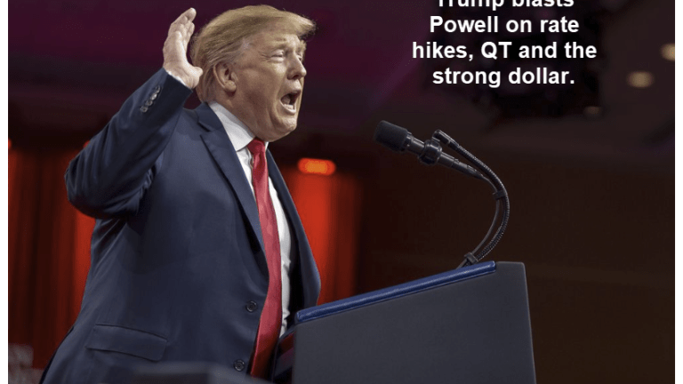 Trump Blasts Powell on Rate Hikes, QT, and the Strong Dollar at CPAC 2019