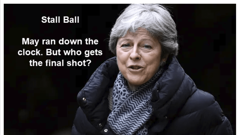 """Stall Ball: Theresa May's """"Stall Ball"""" Nears End of Road"""
