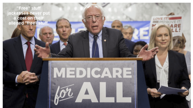 """""""Free Stuff"""": Medicare for All Cost Pegged at $32.6 Trillion for 10 Years"""