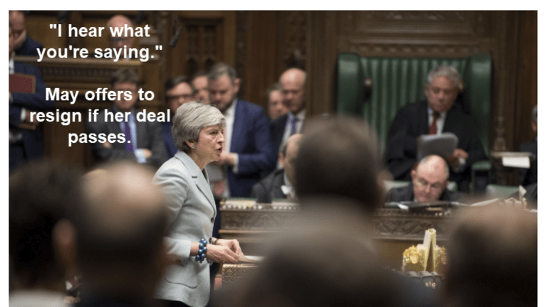 Theresa May Pledges to Stand Down By May 22 (Next Phase) if MPs Back Her Plan