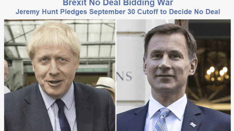 """Brexit Bidding War: Odds of """"No Deal"""" and """"Good Deal"""" are High and Rising"""