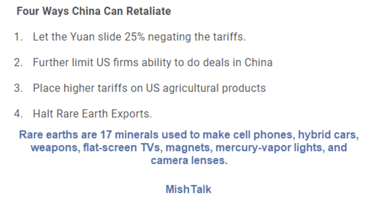 """Trump Unwisely Escalates Trade War: Expect a  """"Rare Earth"""" Response From China"""