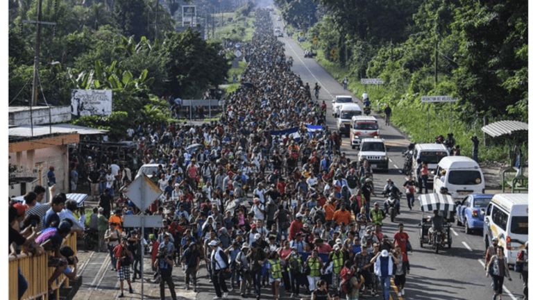 Caravan of 5,000 Hondurans Flock Mexican Border Hoping to Get to the US