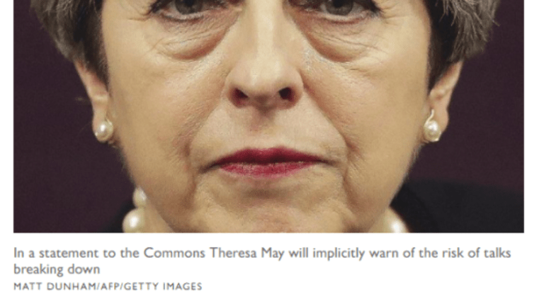 """May Finally Decides to Play Hardball: Tells EU """"Ball is in Their Court, No More Concessions"""""""