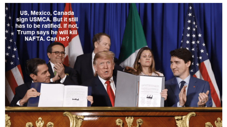 Trump Threatens to Kill NAFTA if Congress Doesn't Approve His New Deal