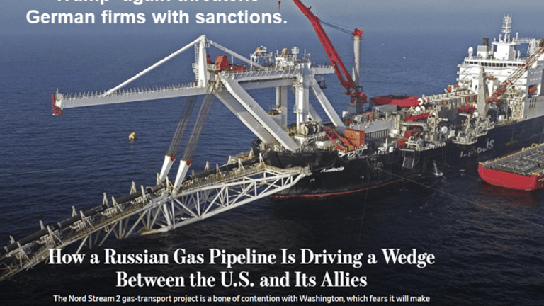 Trump Blackmails Germany With Sanction Threats Over Nord Stream 2