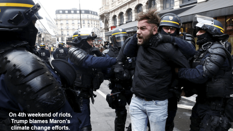 4th Weekend of French Riots, Trump Blames Climate Change, Others Blame Facebook