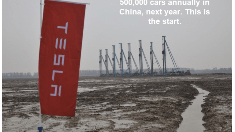 Musk Aims to Produce 500,000 Cars Annually in China in 2020