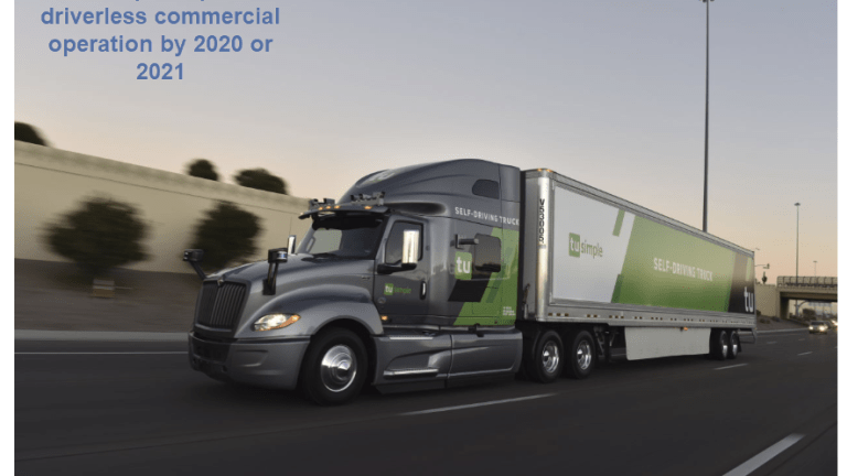 """Self-Driving Truck Startup """"TuSimple"""" Confident of Commercial Driverless by 2021"""
