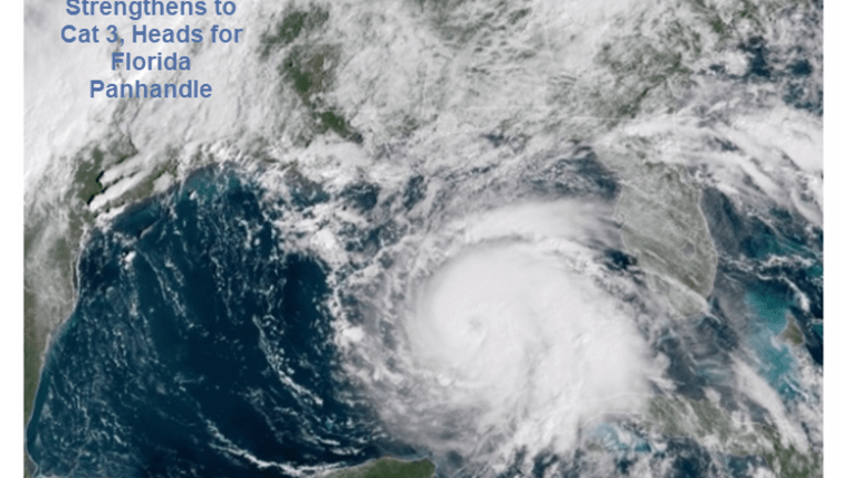 Hurricane Michael Strengthens to Cat 3, Heads for Florida Panhandle