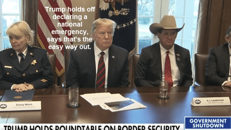 Trump Holds Off Emergency Declaration: Says It's The Easy Way Out