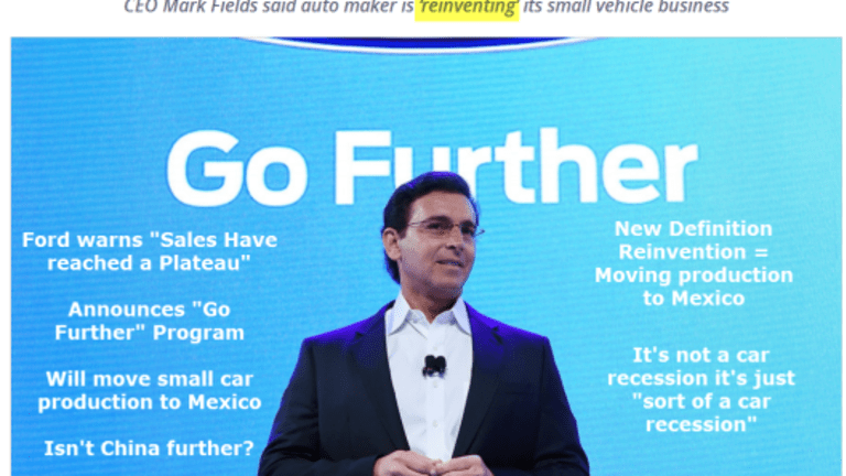 """Ford Announces """"Go Further"""" Program, Moves Small Car Production to Mexico"""