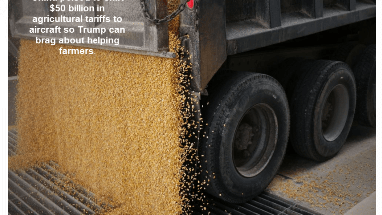 Trump Asks China to Shift Soybean Tariffs to Something Else