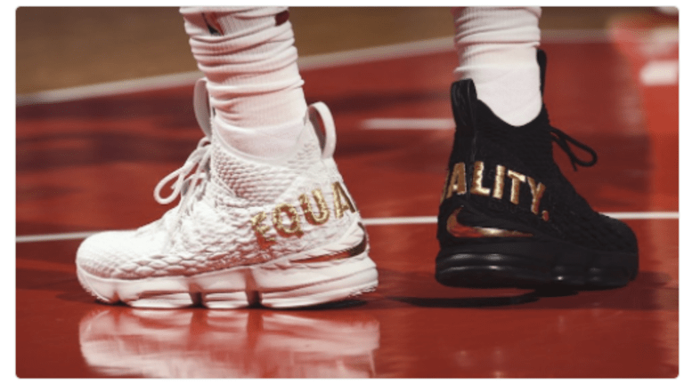 LeBron James Equality Shoes: Are You a Fan of his Message?