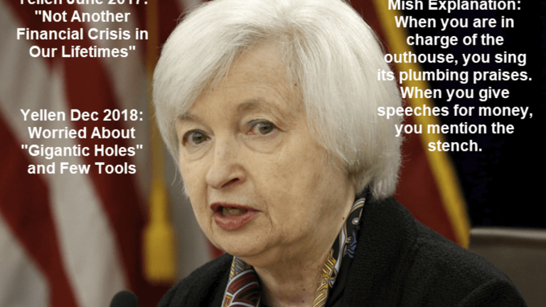 """Yellen """"Not Another Financial Crisis in Our Lifetimes"""" Warns of """"Gigantic Holes"""""""