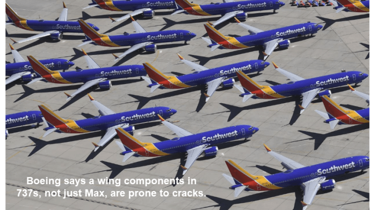 Boeing Tells FAA 737 Wing Components are Subject to Cracking