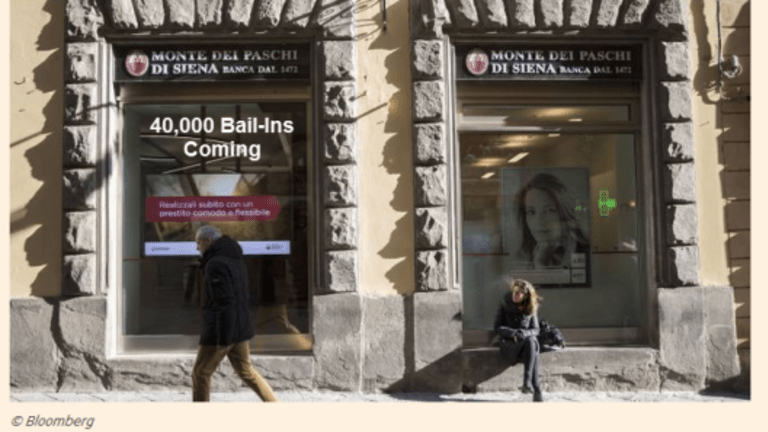 Bail-In Coming for 40,000 Junior Bondholders of Monte dei Paschi: Expect More Bank Bail-Ins