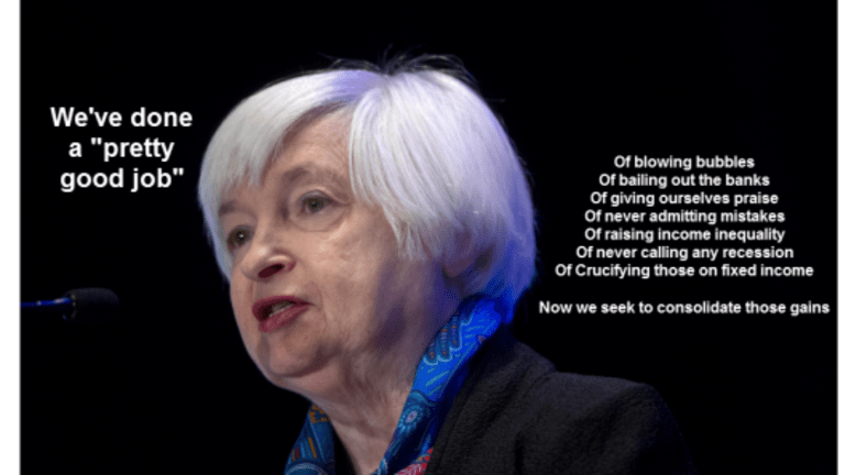 """Yellen's Self-Serving Assessment: Fed is """"Doing Pretty Well"""""""