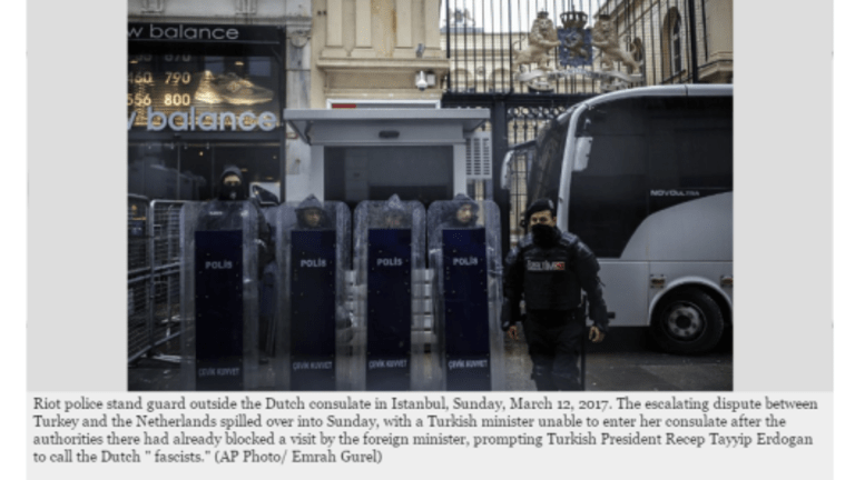 Turkey Cancels Diplomatic Air Space with Netherlands, Issues Sanctions.