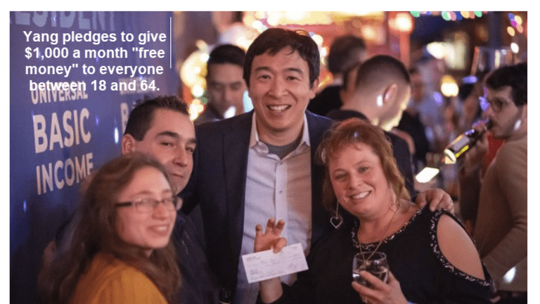 Democrat Presidential Hopeful Wants to Give Everyone $1,000 a Month Free Money