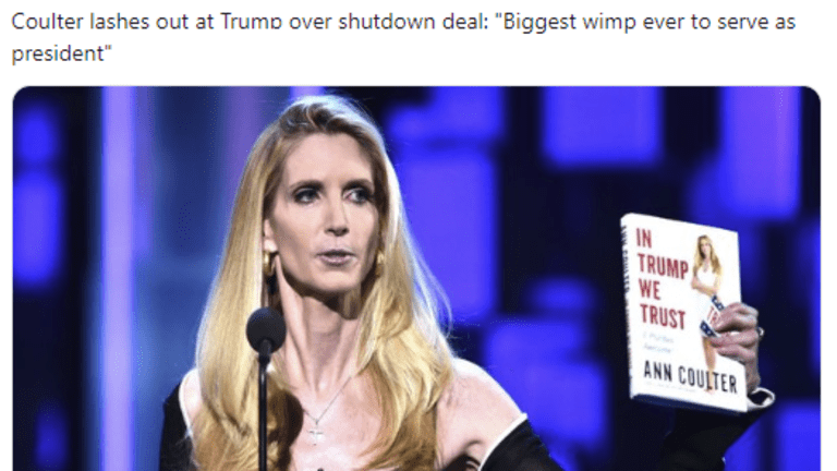"""Trump Mocked From Both Sides After Caving In, Coulter Claims """"Biggest Wimp Ever"""""""