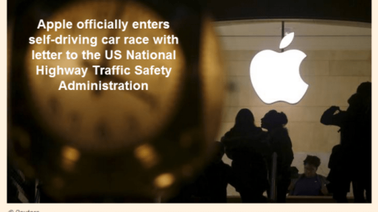 Apple Officially Enters Self-Driving Car Race, Sends Letter to DOT