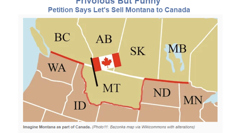 "Frivolous Petition Says ""Sell Montana to Canada for $1T"" to Reduce National Debt"