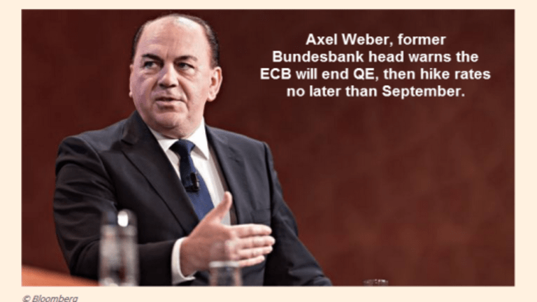 Axel Weber, Former Bundesbank Head Warns of Coming Rate Hikes by ECB