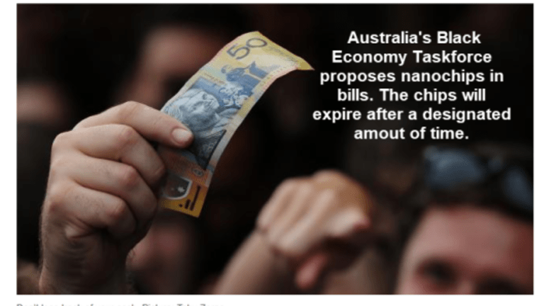 War on Cash Proposals in Australia: Microchip Expiring $100 Bills, Forcing People to Keep Receipts