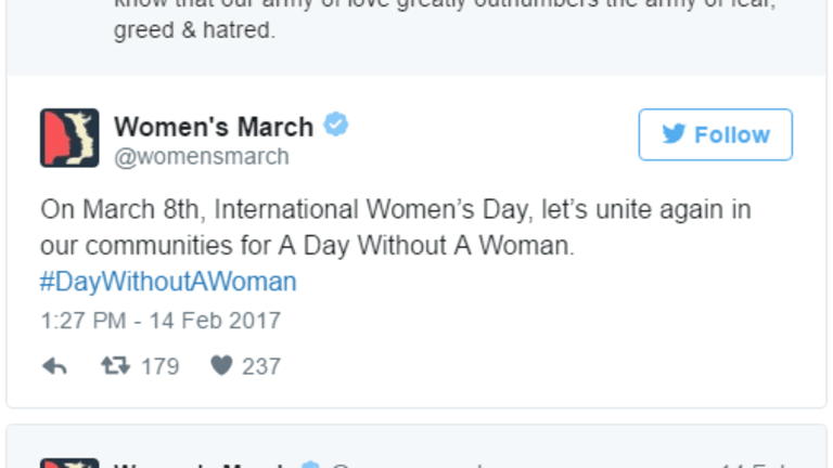 """Women's March Promotes """"A Day Without a Woman"""" General Strike: Platform is Fiscal Insanity"""
