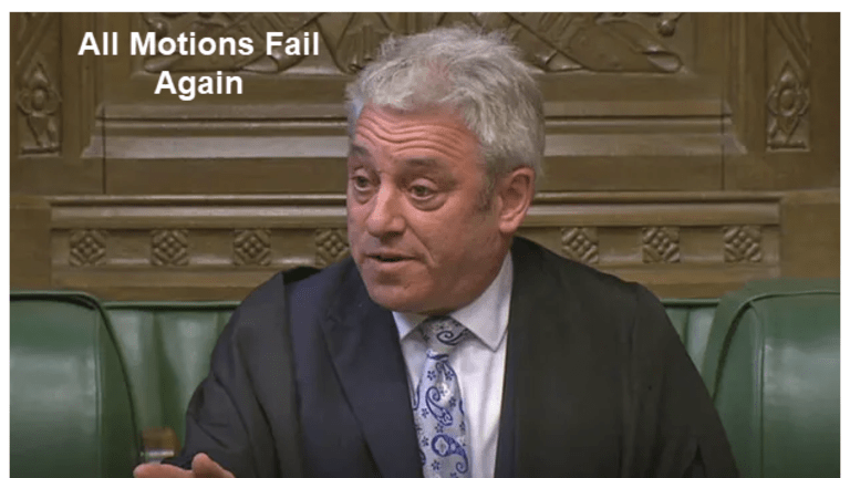 """UK Parliament Effectively Votes """"No Solution"""" - All Indicative Proposals Fail"""