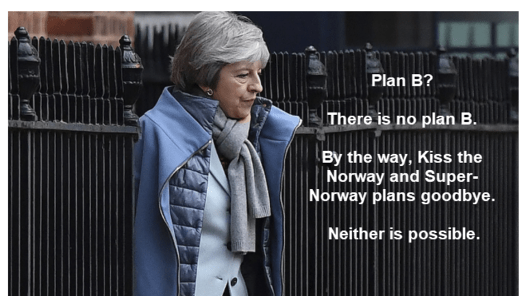 There is No Plan B: Theresa May to Resubmit Plan A on Monday