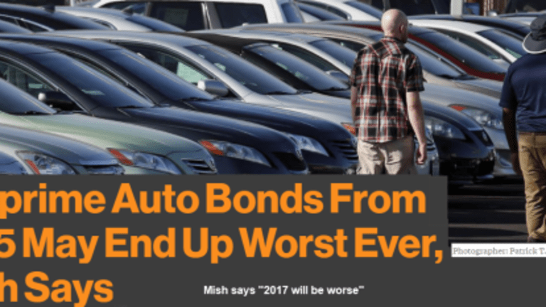 Soaring Auto Loan Defaults: Fitch Says 2015 May Be Worst Ever, Mish Says 2017 Will Be Even Worse