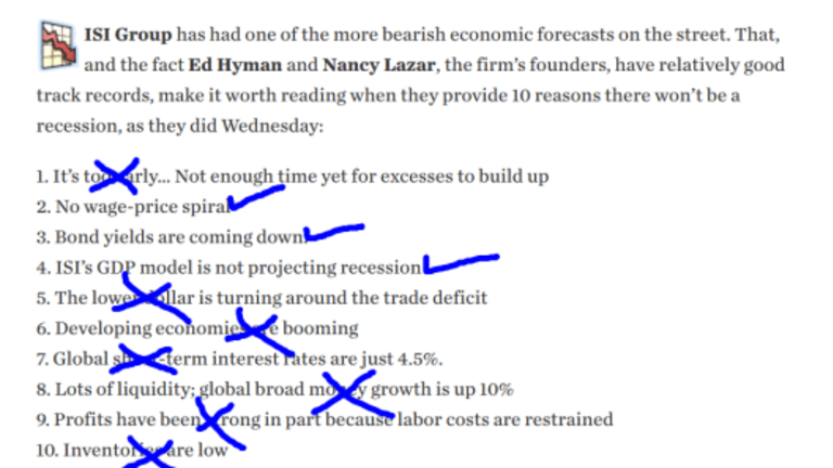Don't Worry, Here's 10 Reasons There Won't Be a Recession