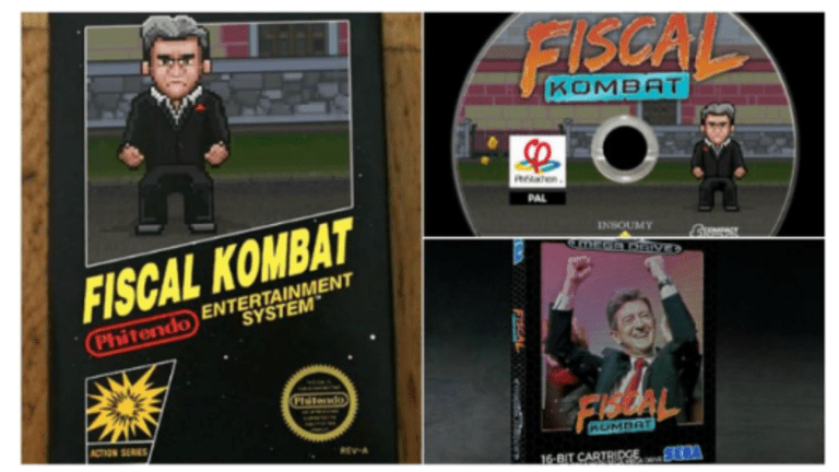 """French Candidate Mélenchon Launches """"Fiscal Kombat"""": Free Video Game on Sharing Wealth"""