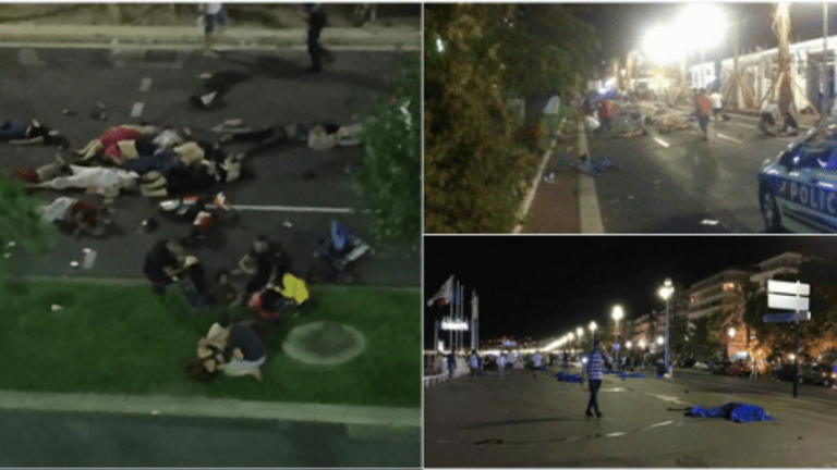 Dozens Killed in French Terrorist Incident as Truck Plows Into Crowd, Driver then Fires Weapons