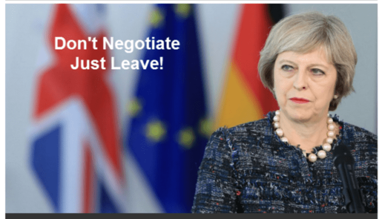 Brexit Stacked Deck? Which Way? Don't Negotiate, Just Leave!