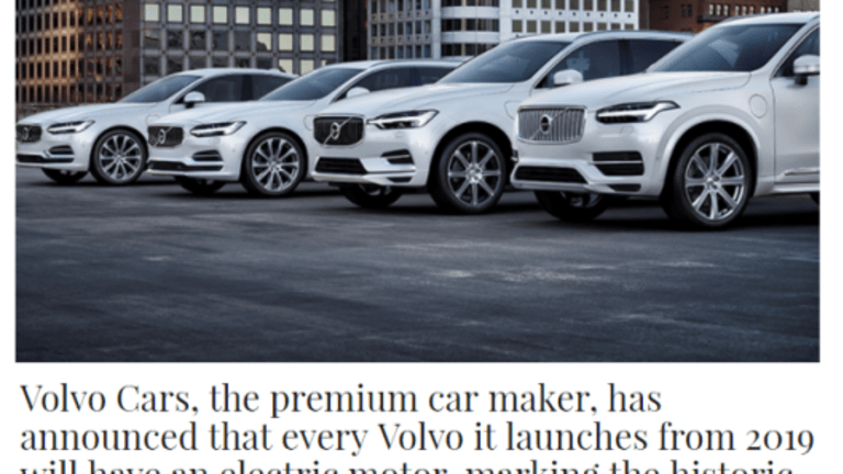 Volvo Goes All Electric – Well Not Quite: End of the Internal Combustion Engine?