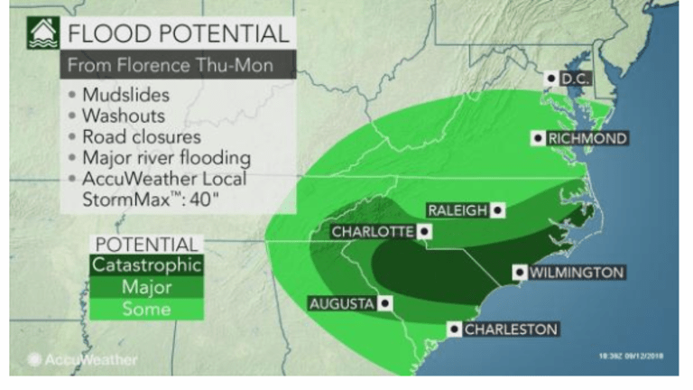 Hurricane Florence Threatens Massive Flooding and 40 Inches of Rain